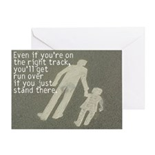 On the right track Greeting Card