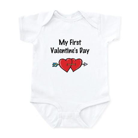 My First Valentine's Day Infant Bodysuit