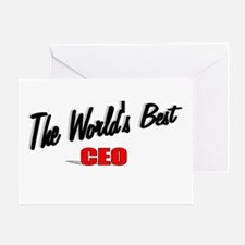 """The World's Best CEO"" Greeting Card"