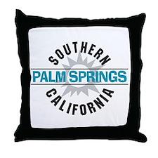 Palm Springs California Throw Pillow