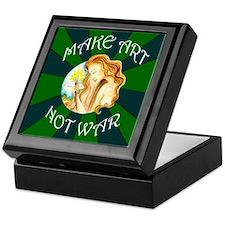 Make Art Not War Keepsake Box