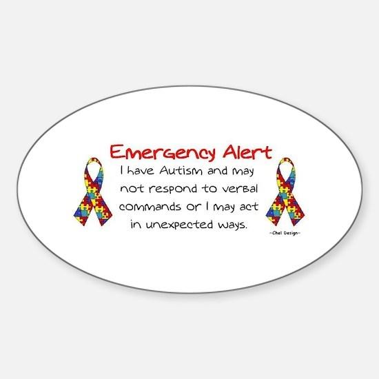 Alert 2 Oval Bumper Stickers