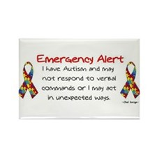 Alert 2 Rectangle Magnet (100 pack)