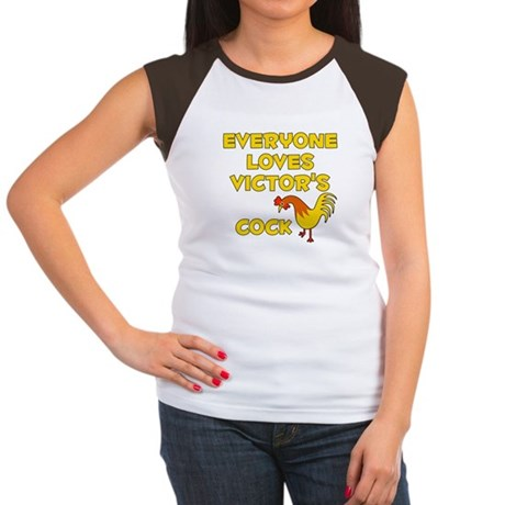 Loves Victor's Cock (A) Women's Cap Sleeve T-Shirt