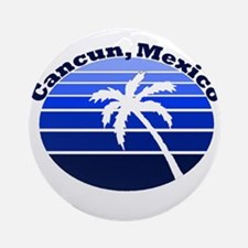 Cancun, Mexico Ornament (Round)