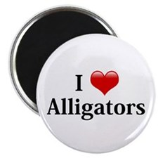 I Love Alligators Magnet