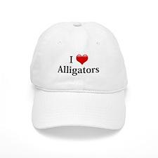 I Love Alligators Baseball Cap