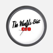 """ The World's Best CFO"" Wall Clock"