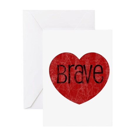 Brave Heart Greeting Card