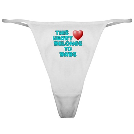 This Heart: Babs (E) Classic Thong