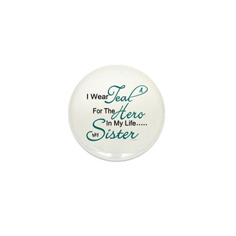 Teal For My Hero 1 (Sister OC) Mini Button (10 pac