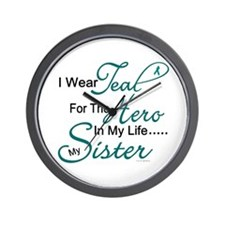 Teal For My Hero 1 (Sister OC) Wall Clock