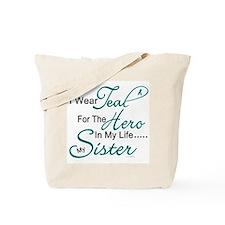 Teal For My Hero 1 (Sister OC) Tote Bag