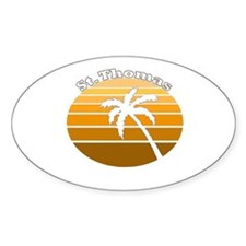 St. Thomas, USVI Oval Decal