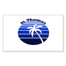 St. Thomas, USVI Rectangle Decal