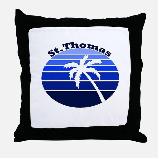 St. Thomas, USVI Throw Pillow