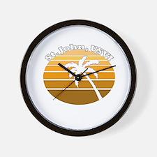 St. John, USVI Wall Clock