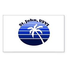 St. John, USVI Rectangle Decal
