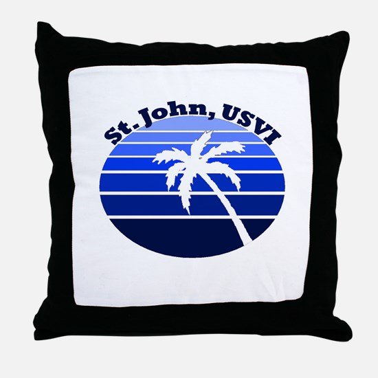 St. John, USVI Throw Pillow