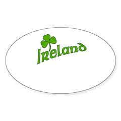 IRELAND with Shamrock Oval Decal