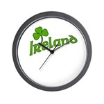 IRELAND with Shamrock Wall Clock
