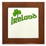 IRELAND with Shamrock Framed Tile