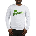 IRELAND with Shamrock Long Sleeve T-Shirt
