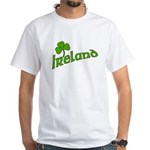 IRELAND with Shamrock White T-Shirt