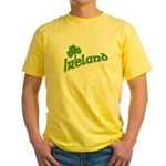 IRELAND with Shamrock Yellow T-Shirt
