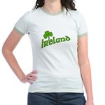 IRELAND with Shamrock Jr. Ringer T-Shirt