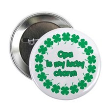 """Opa is My Lucky Charm 2.25"""" Button"""