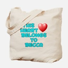 This Heart: Becca (E) Tote Bag