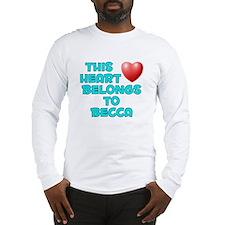This Heart: Becca (E) Long Sleeve T-Shirt