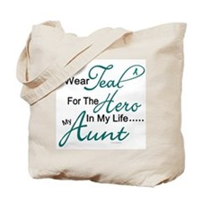 Teal For My Hero 1 (Aunt OC) Tote Bag