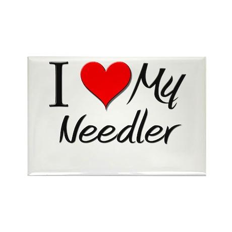 I Heart My Needler Rectangle Magnet (10 pack)