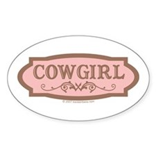 Cowgirl - Oval Decal
