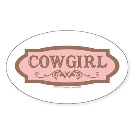 Cowgirl - Oval Sticker