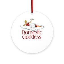 Domestic Goddess Ornament (Round)