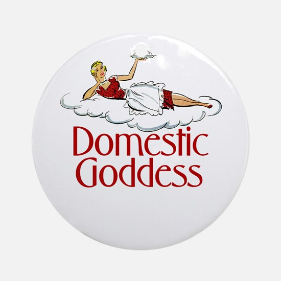 Domestic Goddess Ornament (Round)