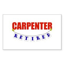 Retired Carpenter Rectangle Decal