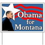 Obama for Montana Yard Sign