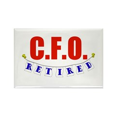 Retired CFO Rectangle Magnet (10 pack)