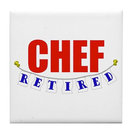 Retired Chef Tile Coaster