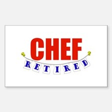 Retired Chef Rectangle Decal