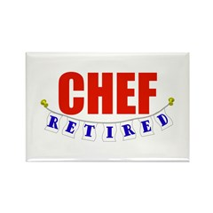 Retired Chef Rectangle Magnet