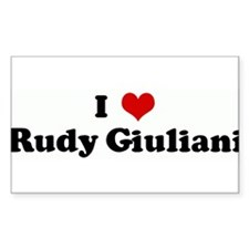 I Love Rudy Giuliani Rectangle Decal