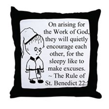 Sleepy Character Throw Pillow