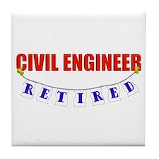 Retired Civil Engineer Tile Coaster