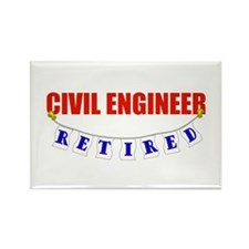 Retired Civil Engineer Rectangle Magnet