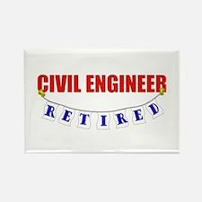 Retired Civil Engineer Rectangle Magnet